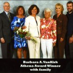 Barbara VanKirk and her family at the Winners' Circle Luncheon
