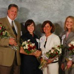 The 2009 Winners' Circle Award Winners! From left to right: Tay Waltenbaugh (Seton Hill University Entrepreneurial Excellence Award), Autumn DeLellis (YWCA Rising Star Award), Barbara VanKirk (ATHENA Award) and Linda Austin (Community Service Award)