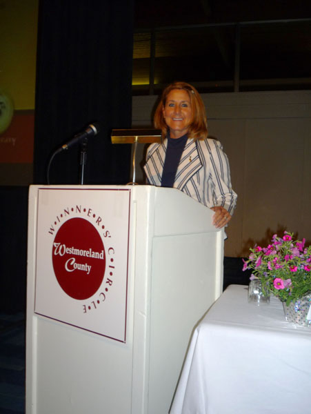 Barbara VanKirk Emcee at 2010 Winners' Circle Awards Luncheon!