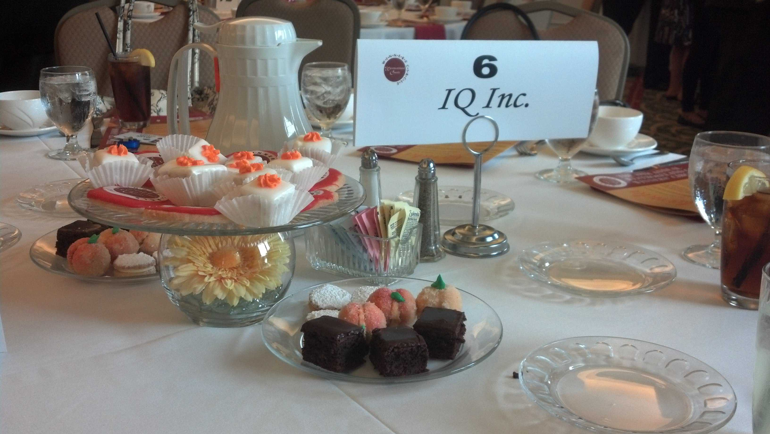 IQ Inc Table at Winners' Circle Awards Luncheon