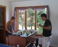 Foosball throw down