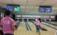 Bowl for the Cure action shot